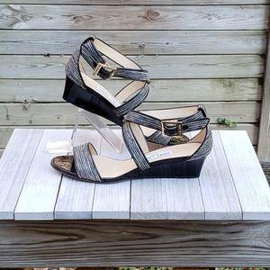 Jimmy Choo Chiara Glitter Sandals Crisscross Demi